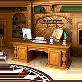 Отделка кабинетов деревом12